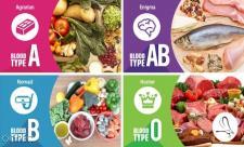 رژیم غذایی گروه خونی : A, B, AB, O