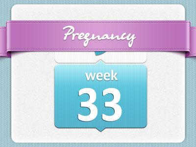 هفته سی و سه بارداری+ هفته 33 بارداری