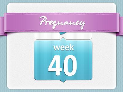 هفته 40 بارداری، هفته چهلم بارداری