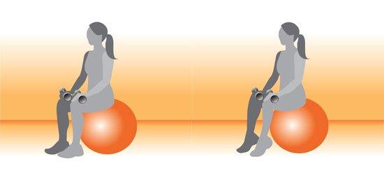 ورزش با توپ بعد از زایمان