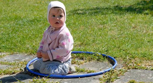نوزاد یازده ماهه در هفته دوم