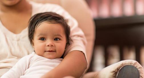 نوزاد ده ماهه در هفته چهارم