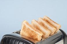 نان تست سفید و درمان اسهال