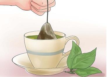 چای سبز و جوش صورت