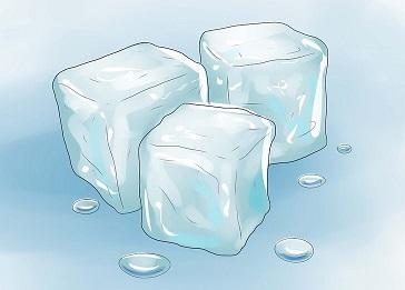 یخ و بهبود جوش صورت