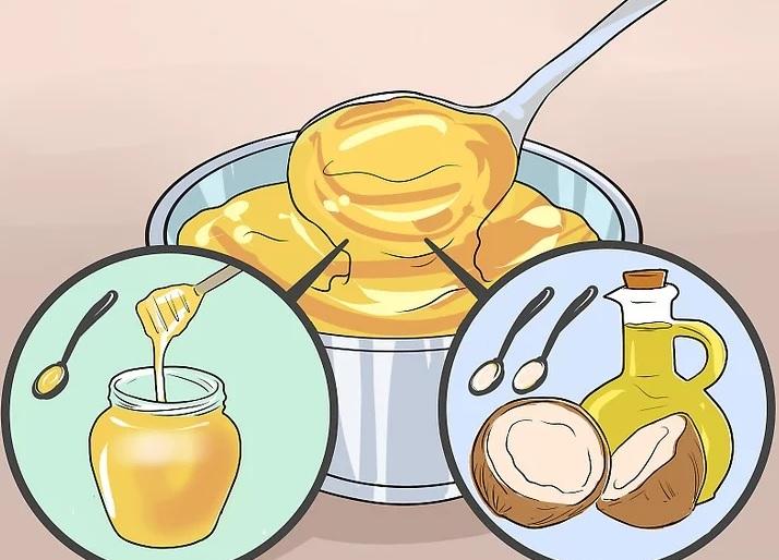 ماسک عسل و روغن نارگیل