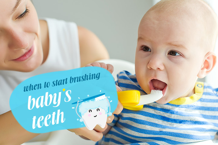 مسواک زدن نوزاد