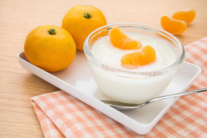 ماسک سفید کننده پرتقال و ماست