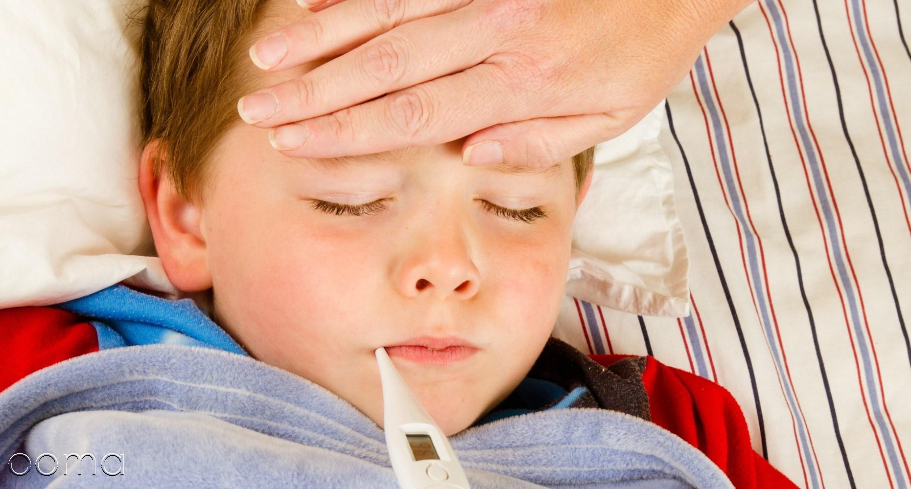 غذای کودک تب دار