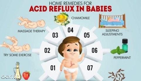 درمان ریفلاکس معده در نوزادان