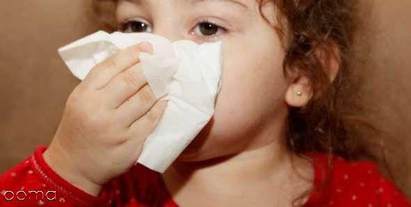 درمان آبریزش بینی  کودک