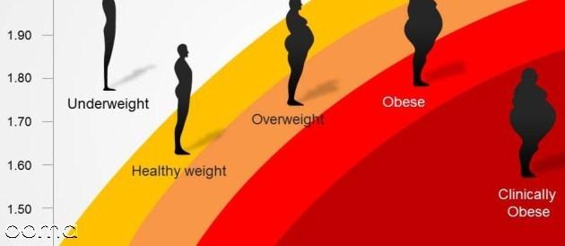 تست BMI لاغری