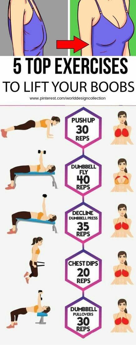 ورزش برای لاغر کردن سینه